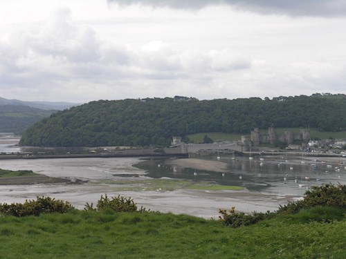 World Heritage Site Conwy Castle from the Conwy Estuary Trail