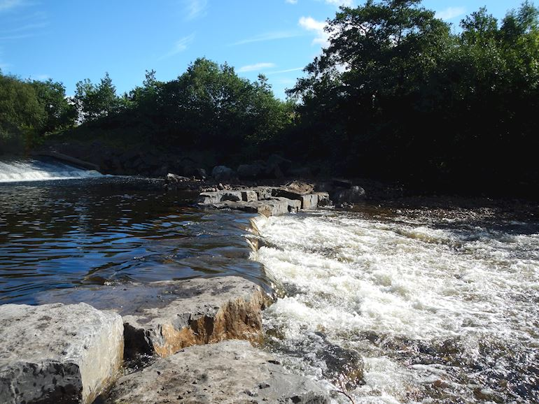 Fish pass on the River Tawe in Panteg