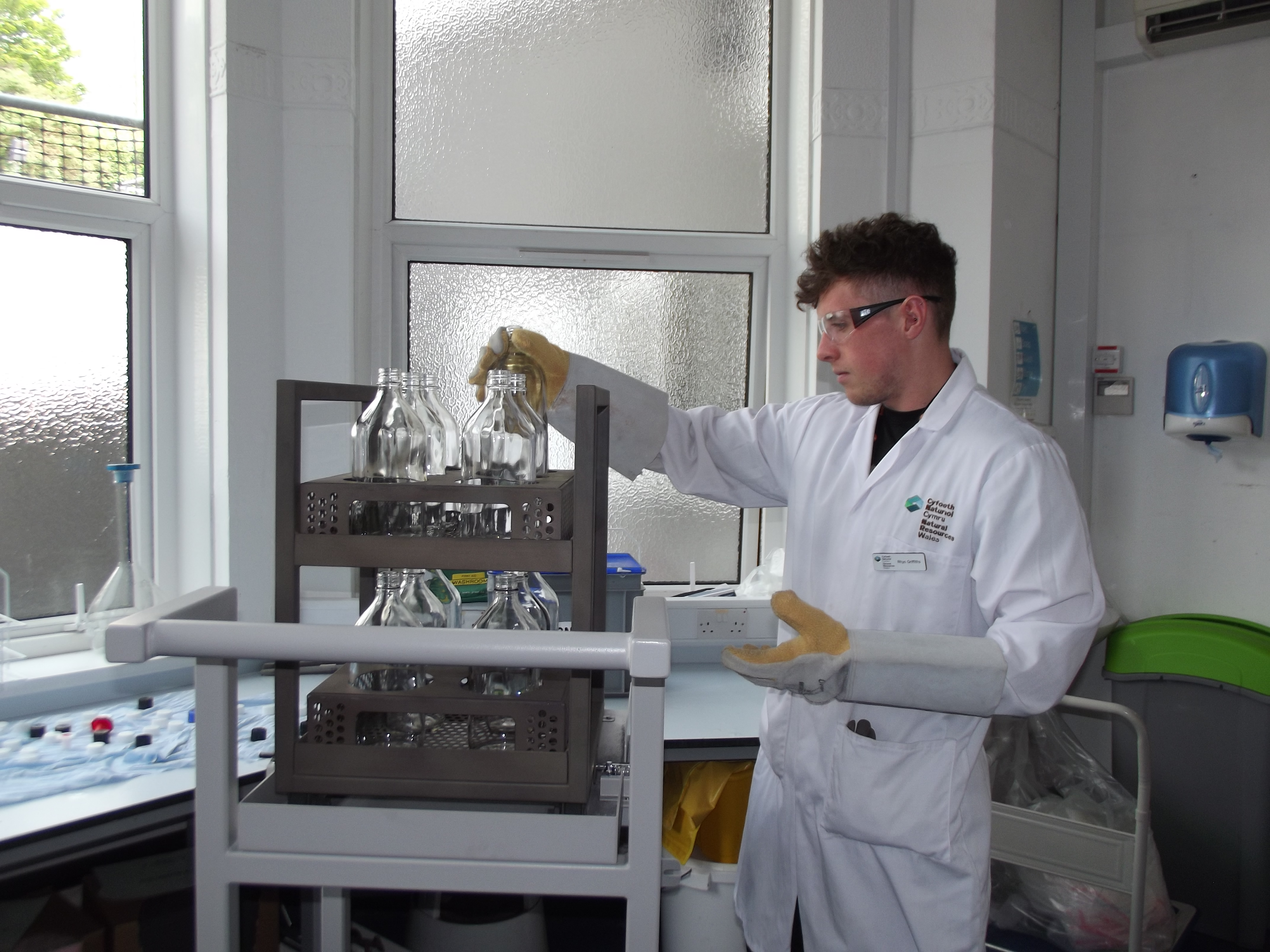 Staff working at our laboratory