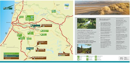 Map on how to get to Cors Caron National Nature Reserve