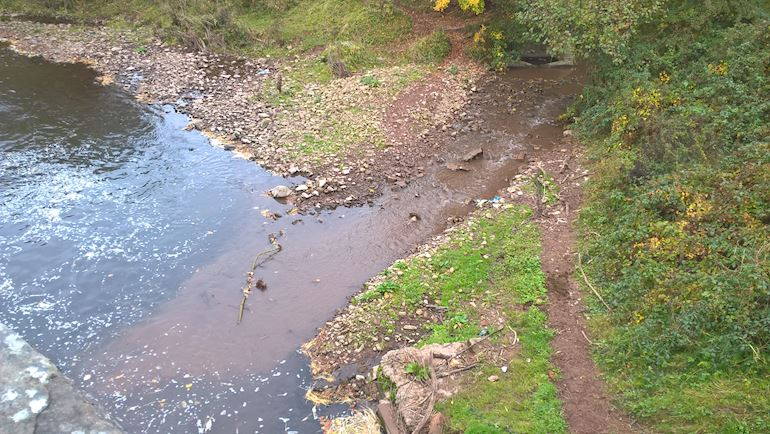 Image of Silt pollution at Llangattock