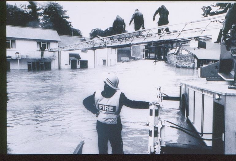Historic picture of flooding
