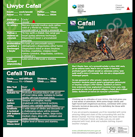 Cafall trail leaflet