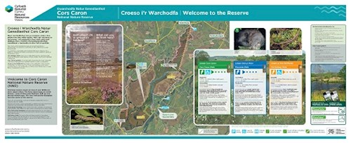 PDF of the walking trails at Cors Caron
